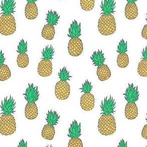 Pineapples on White