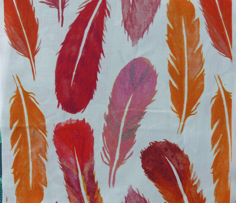 Watercolour Feather Drop - Autumn