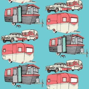 Nifty Fifties Summer Camper Trailers
