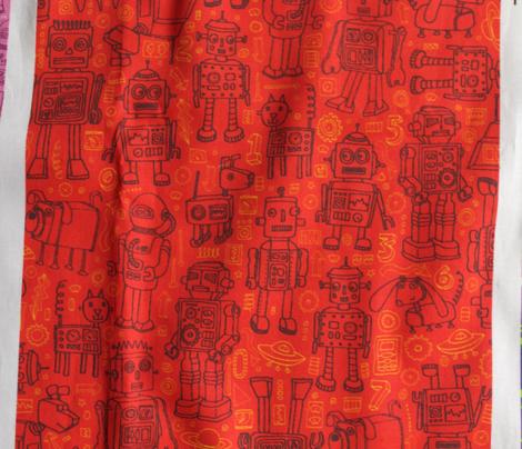 Robot Pattern - Red