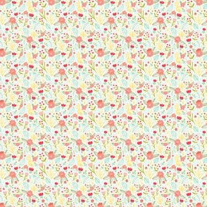 Fun floral pattern small scale