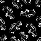 Black and White Inverted Cars