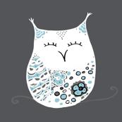 Winter Snow Owls