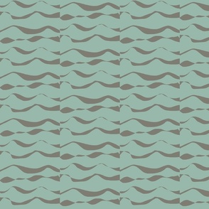 Waves MED cocoa on seafoam 1