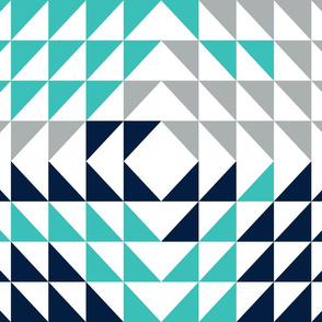 Triangles // grey/navy/turquoise