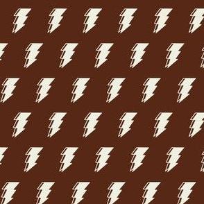Lightning bolt - brown and white