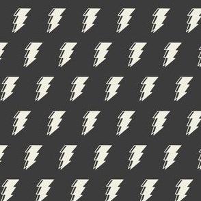 Lightning bolt - dark monochromatic