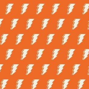 Lightning bolt - orange monochromatic