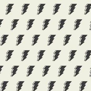 Lightning bolt - black and white