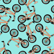 Pastel Orange Bikes