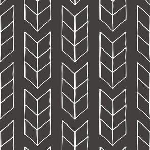 drawn triple chevron arrow - black