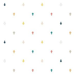 Colorful Arrows, A Bright Fun Geometric Pattern