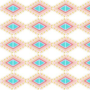Aztek Quilt Row-Large  tropical pink