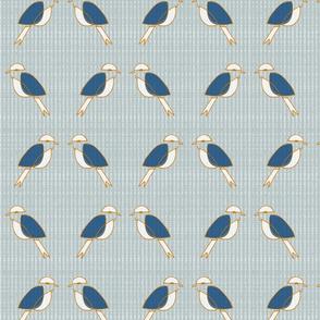 Navy Orange MCM Birds