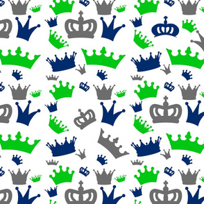 Navy Lime Gray Crown