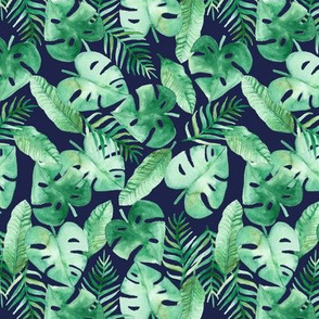 Tropical Jungle on Navy
