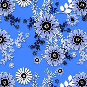 Cornflower lace floral