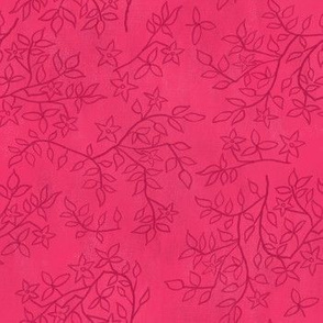 Pink Leaves and Flowers