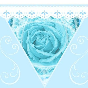 Aqua Rose Lace Celebration Bunting