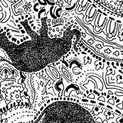 Paisley-Power-black-elephant-print-fabric-design