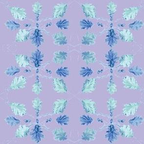 Oak Leaves (Purple)