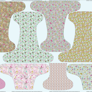 OS Fitted Enchanted Cloth Diaper - 56 inch