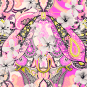 Paisley-Power-hibiscus-paisley-print-in-pink-coral-mustard