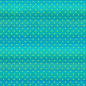 Polka Dots In Turquoise And Lime