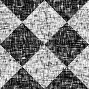 Black + White, high contrast tweedy diamond tiles by Su_G