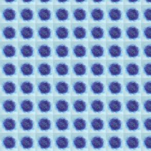Singular Blue Flower Quilt Squares