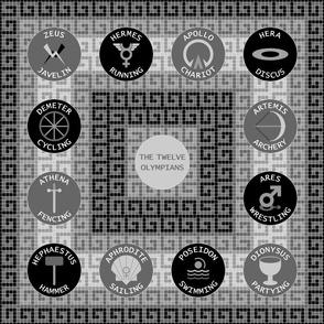 12 olympians : grey stone