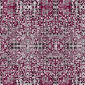 Dancing Dots and Spots of Grey on Dark Plum