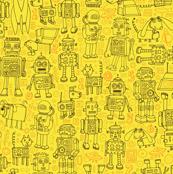 Robot pattern - Yellow