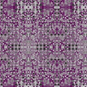 Dancing Dots and Spots of Grey on Amethyst