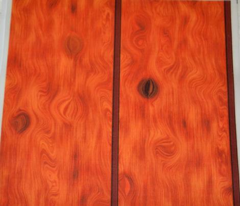 Varnished Knotty Honey Oak Paneling