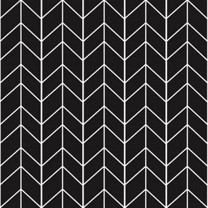 Small Arrow Chevron -Onyx Linen