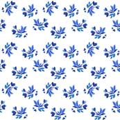 Flora watercolor floral pattern