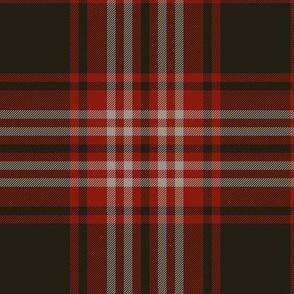 Tweedside red district tartan, muted