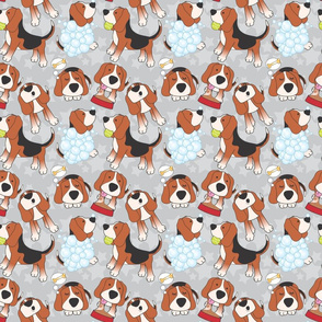 beagles jumbled grey