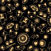 Japan kawaii culture golden doodles