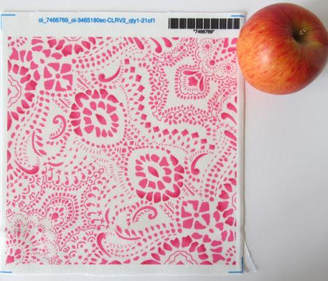 Mosaic Bandana - LARGE - Pink & White