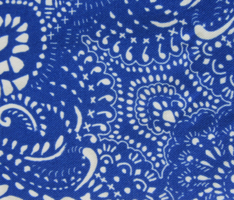 Mosaic Bandana - LARGE - Royal Blue & White