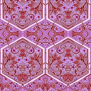Arabesque in Lavender and Red