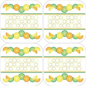 Sunny Citrus Trivets