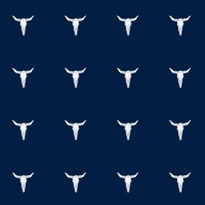 longhorn skull // navy blue kids baby mini dolls dresses