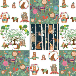 Forest Family Frolic - Patchwork Quilt