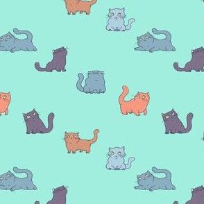 Cats Diagonal Stripe