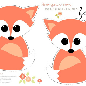 Sew your own baby fox - 2 fronts