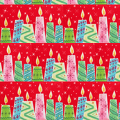 Mid Century Christmas Candles