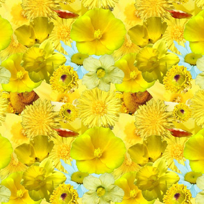 Yellow Floral Small Print